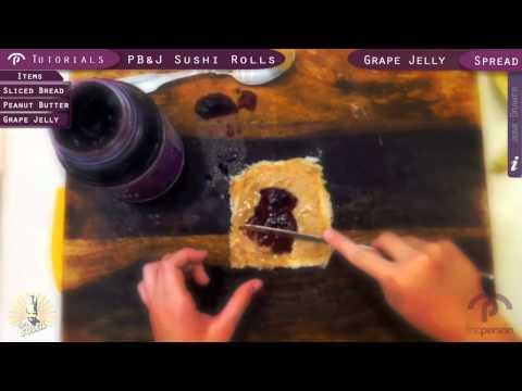 FP Peanut Butter Jelly Sushi Rolls