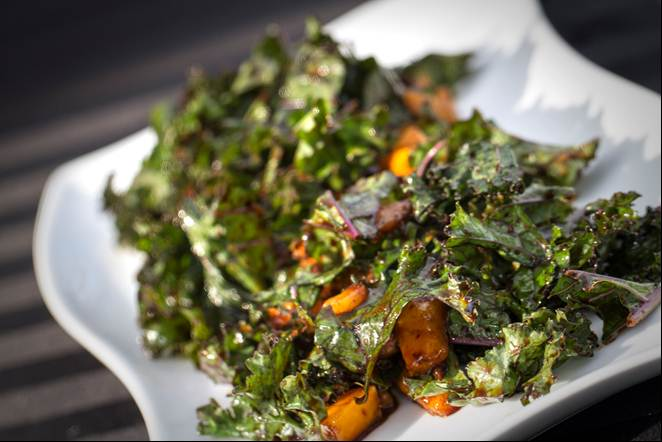 Dr. Ruby's Miso Mango Kale Salad