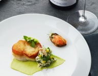 Chatham Cod, Crab, Favas and Pickled Mussels