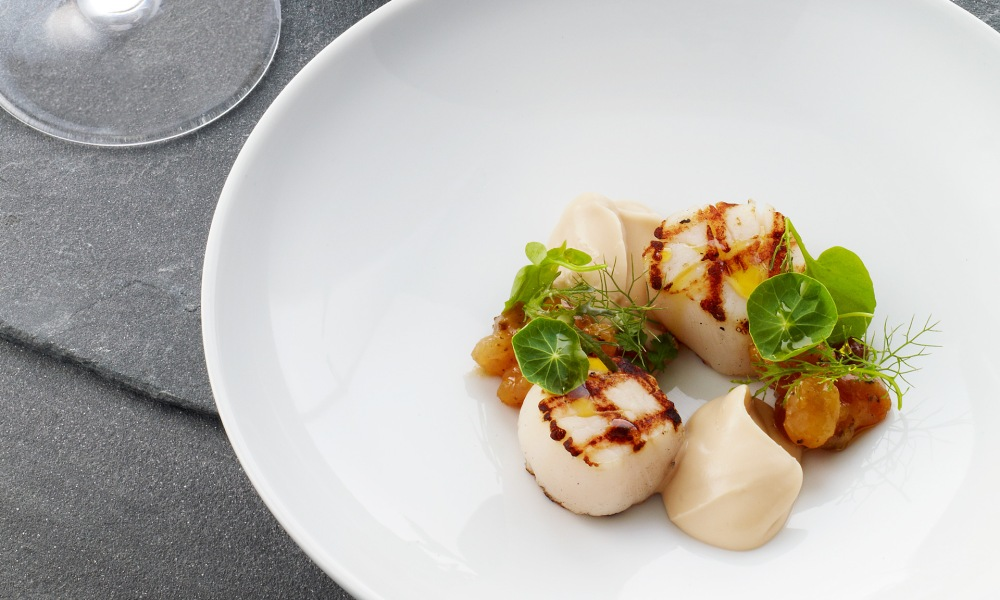 Nobilo Paired Grilled Scallops