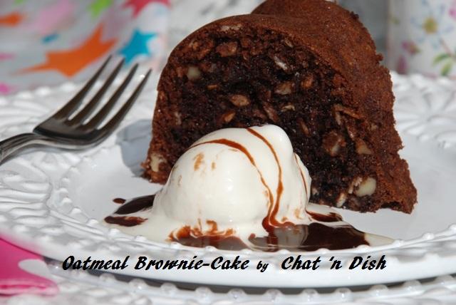 Oatmeal Brownie-Cake