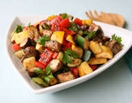 Pan Roasted Florida Vegetables with Garlic and Fresh Herbs