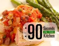 90 Second Pan Seared Tuna with Puttanesca Sauce