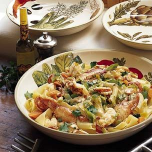Pappardelle with Lobster, Leeks and White Truffle Oil