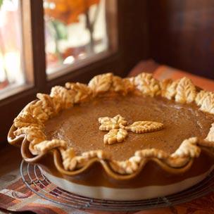 Pecan Pumpkin Butter Pie with Butterscotch Cream Recipe
