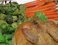 Pheasant and Walnut Pesto Brusselsprouts