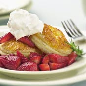 Puff Pastry Galettes with Red Wine Strawberries