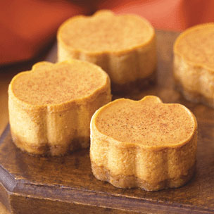 Miniature Pumpkin Cheesecakes with Cinnamon Crust Recipe