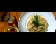 Smoked Salmon Linguine and Nobilo Sauvignon Blanc