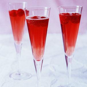 Raspberry Champagne Cocktail Recipe