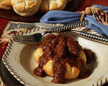 Ramblin Rodeo Stewed Beef with Cobblestone Biscuits