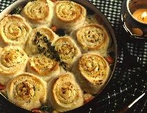 Low Fat Italian Chicken Casserole with Parmesan Pinwheels