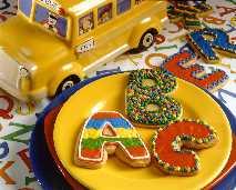 Back to School Alphabet Cookies