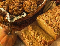Pumpkin Bread with Streusel Nut Topping
