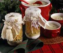 White Christmas Soup in a Jar