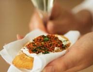 Roasted Red Pepper Pesto Crostini