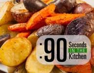 90 Second Roasted Garden Vegetables