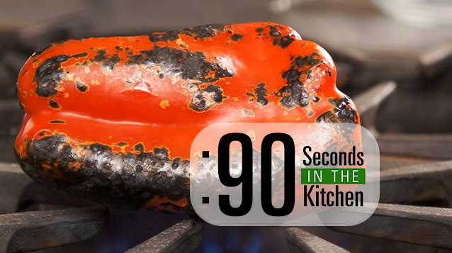 90 Second Roasted Red Bell Pepper