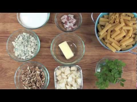 Rigatoni with Pears and Gorgonzola
