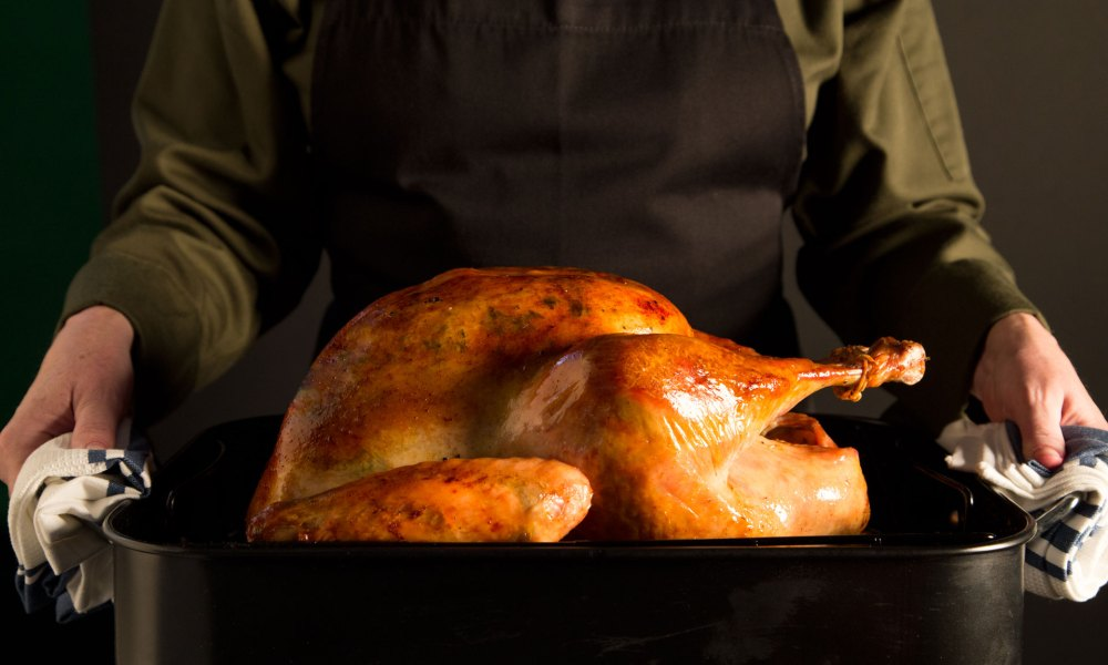 This savory and fresh sage-seasoned butter slipped under the skin of the turkey breast before roasting ensures a moist, delicious and juicy bird - almost too beautifully golden to eat!