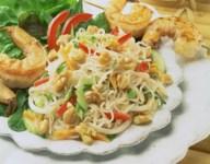 Savory Asian Noodle and Walnut Salad