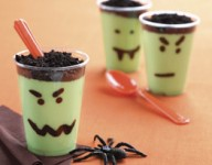 Scary Pudding Cups