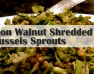 Dijon Walnut Shredded Brussels Sprouts