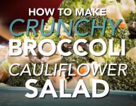 How To Make Crunchy Broccoli Cauliflower Salad