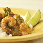 Seared Shrimp with Ancho Chiles and Garlic