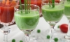 Creamy Sweet Pea Soup Shots with Chives