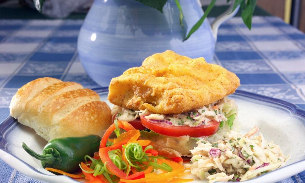 Southern Fried Mahi-Mahi Sandwiches