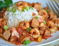 Quick Crawfish and Sausage Jambalaya