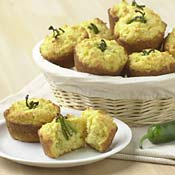 Spicy Corn Muffins with Jalapenos