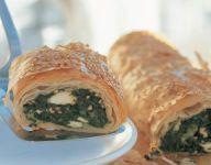 Spinach Feta Filo Roll