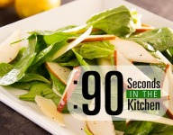 90 Second Spinach, Pear and Parmesan Salad