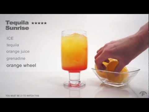 Mixology Tequila Sunrise