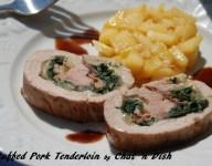 Prosciutto & Spinach Stuffed Pork Tenderloin
