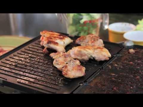 Korean BBQ Chicken and Garlicky Broccoli