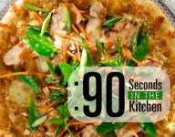 90 Second Thai Chicken Pizza