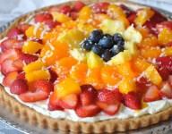Fresh Fruit Dessert Pizza with Coconut Cream Recipe