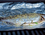 How To Grill Trout Stuffed with Wild Leeks