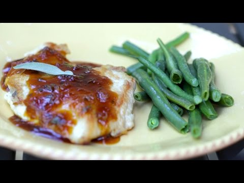 Apricot-Sage Chicken Breast & Steamed Green Beans