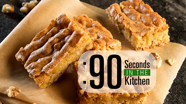 90 Second Black Walnut Blondies