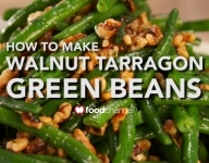 How To Make Walnut Tarragon Green Beans