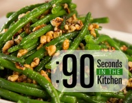 90 Second Walnut Tarragon Green Beans