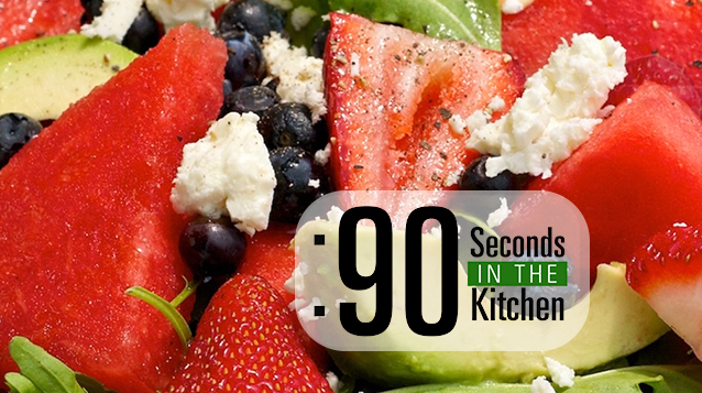 90 Second Watermelon, Berry and Avocado Salad