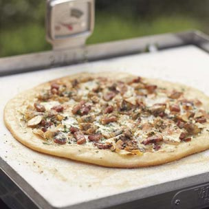 White Pizza with Clams and Pancetta
