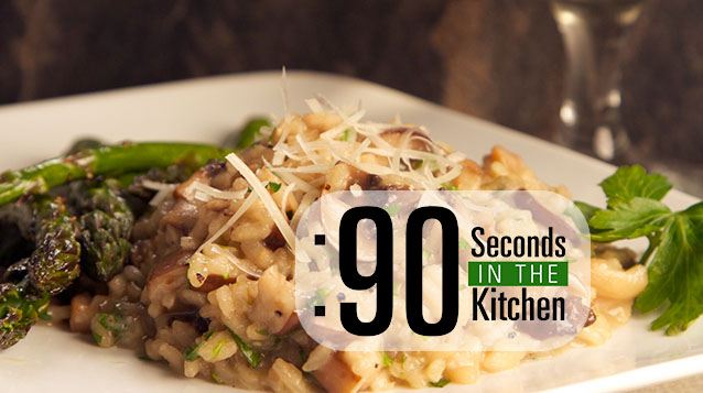 90 Second Wild Mushroom Risotto