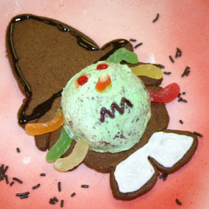 Blue Bunny Ice Cream Witch Cookie