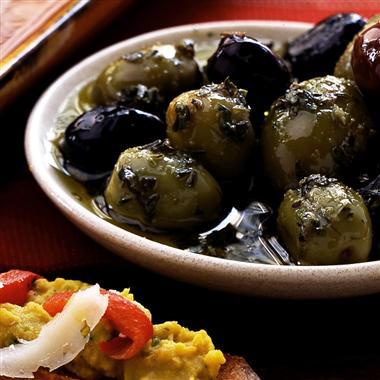 Zesty Marinated Olives